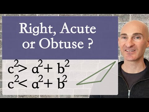 Is a Triangle Right, Acute, or Obtuse Given Sides?