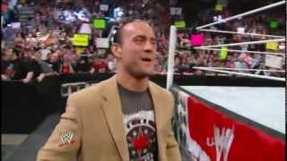 CM Punk Greets a Speechless Fan at Ringside - RAW 2012