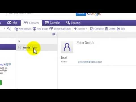 How to manage contacts on BT Mail