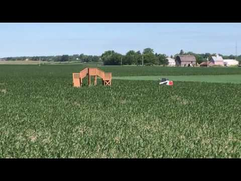 Cutting the 2017 Corn Maze