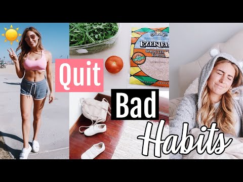 6 Bad Habits I am Quitting //+ adding Healthy Habits// Get your life together 2018