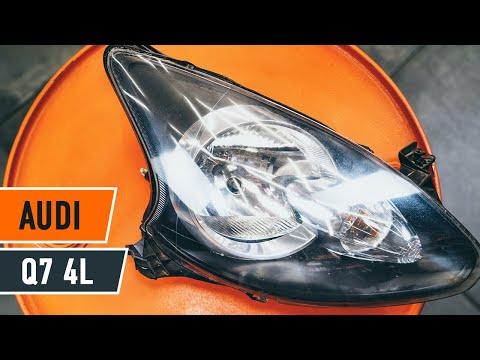 How to replace headlight Audi Q7 4L TUTORIAL   AUTODOC
