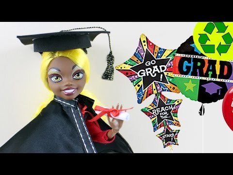 Make Doll Graduation Diploma, Cap and Gown- Doll Crafts - simplekidscrafts