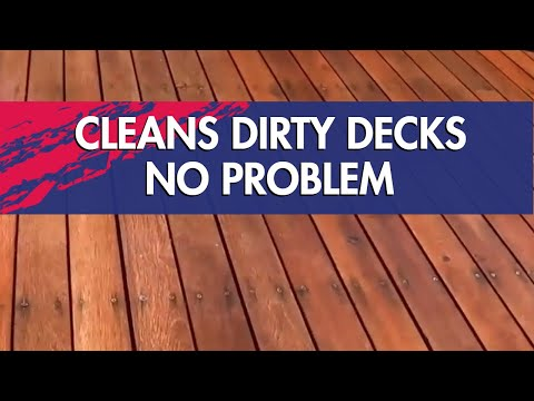 Dirty Deck? Clean it with 30 SECONDS Outdoor Cleaner!