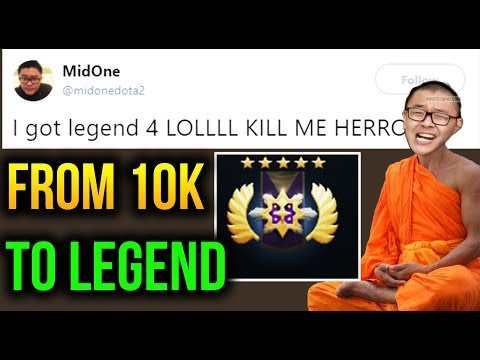 LEGEND Rank For 10K MidOne [Chaos Knight] Dota 2 7.07c