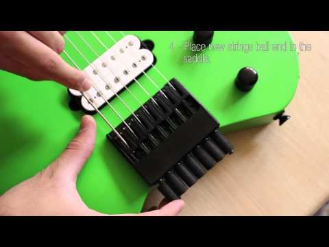 How To Change Strings and Tune a Headless Guitar (Kiesel Vader)