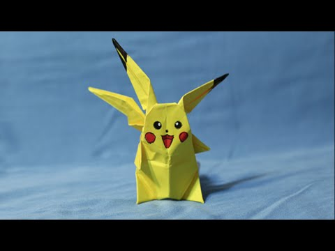 How To Make An Origami Pikachu!