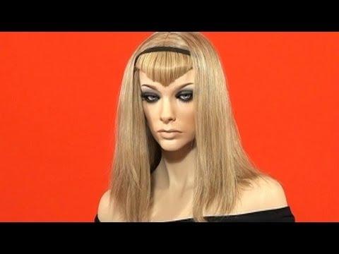 How to Make V Fringe Bangs Hair Extensions Tutorial - DoctoredLocks.com