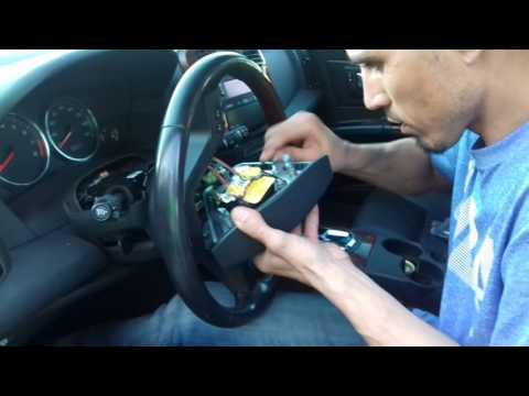 cadillac 2006 cts light switch turning signal and steering wheel replacement tutorial