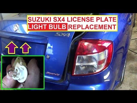 Tag Light License Plate Light Bulb Replacement on SUZUKI SX4 FIAT SEDICI