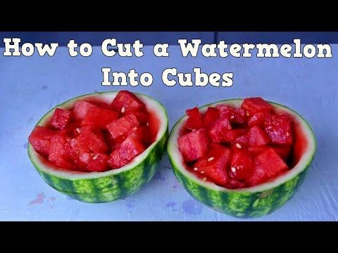 Fastest Way to Cut a Watermelon Into Cubes - Food Hack