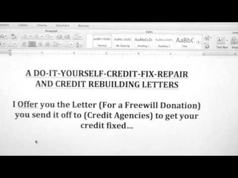 A DO-IT-YOURSELF-CREDIT-FIX-REPAIR
