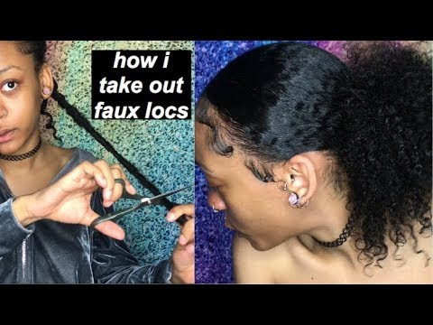 HOW I TAKE OUT MY FAUX LOCS