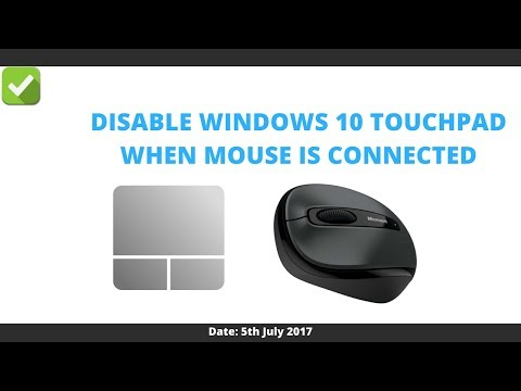 How to disable touchpad windows 10 when mouse is connected