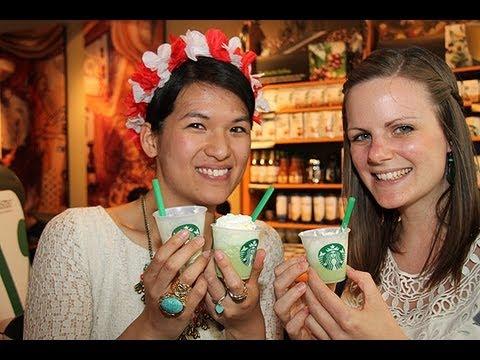 @ Starbucks: Matcha Green Tea Cream Frappuccino & Mocha Cookie Crumble Frappuccino