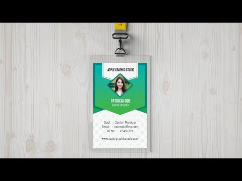 Identity Card Design Tutorial in Photoshop - Make Your own ID Badge