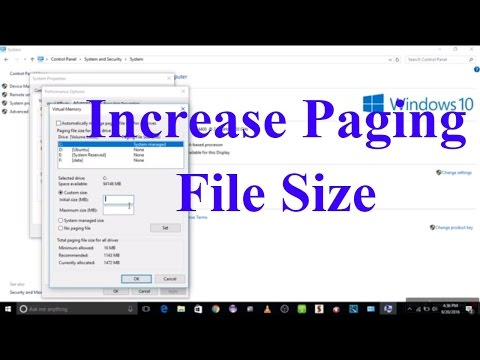 How to increase Committed memory for Program (Paging file size) windows 10 #computerrepair #techtip