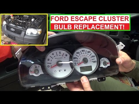How to replace Instrument Cluster Light Bulb on Ford Escape and Mercury Mariner