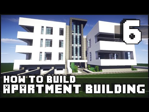 Minecraft - How to Build : Modern Apartment Building - Part 6 + Download