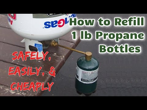 How to Refill Small Propane Bottles