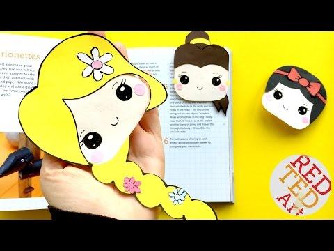 Tangled Bookmar DIY - Rapzunel Corner Bookmark How To - Disney Princesses Crafts