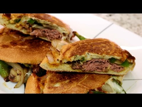 How to make a philly cheese steak sandwich in a panini press griddler elite