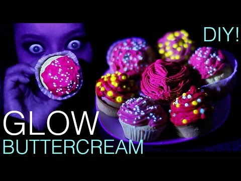 How to make colour changing UV Glow in the dark Cupcakes