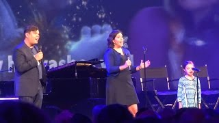 "Kristen Anderson Lopez, Robert Lopez, and Annie Lopez perform ""Fixer Upper"" at D23 Expo 2015"