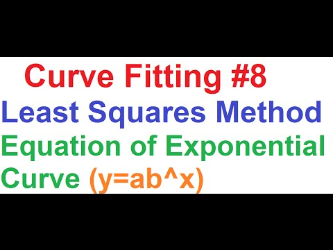 Curve Fitting 8- Least Squares Method_Equation of Exponential Curve (y=ab^x)