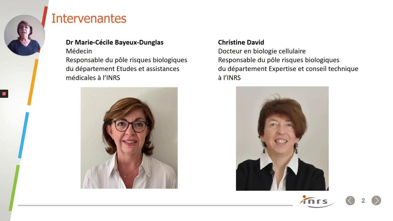 Webinaire INRS sur le COVID.19 - 9 avril 2020