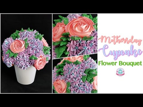 *Bonus* HOW TO MAKE A MOTHERSDAY CUPCAKE FLOWER BOUQUET  Abbyliciousz The Cake Boutique