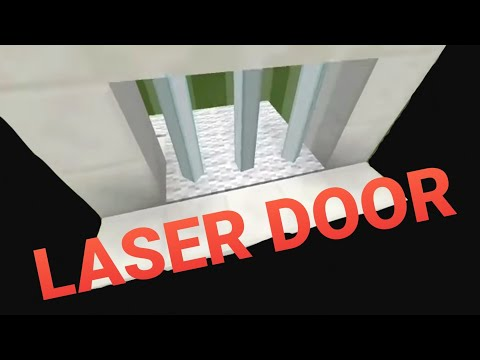 How to make a Laser Door-Minecraft