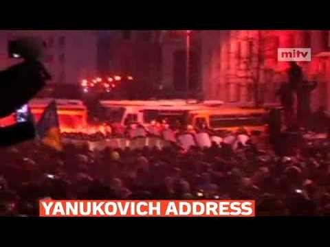mitv - Ukrainian President Viktor Yanukovich is calling for peaceful protests