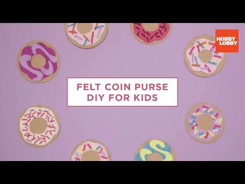 DIY Kids' Felt Coin Purse