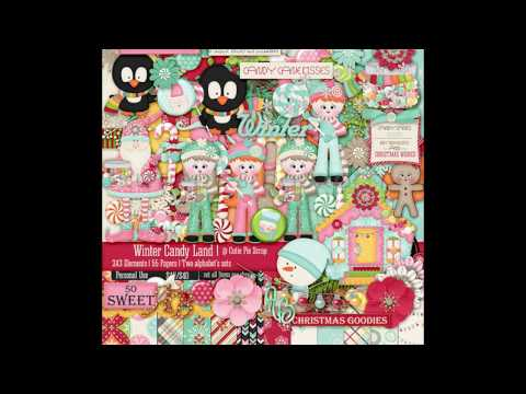 Winter Candy Land  digital scrapbooking and card making kit