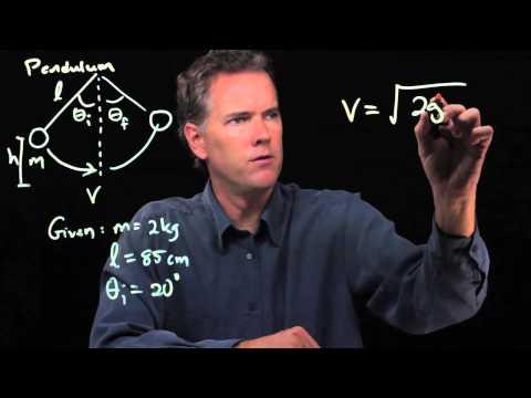 Pendulum problem using conservation of energy