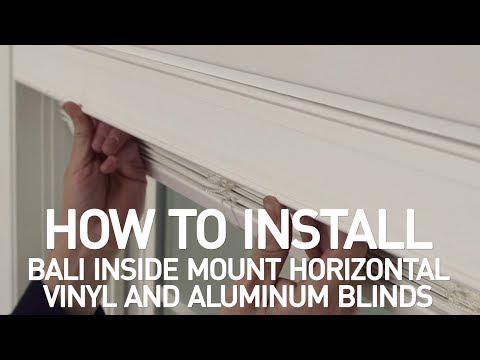 How to Install Bali® Horizontal Vinyl and Aluminum Blinds - Inside Mount