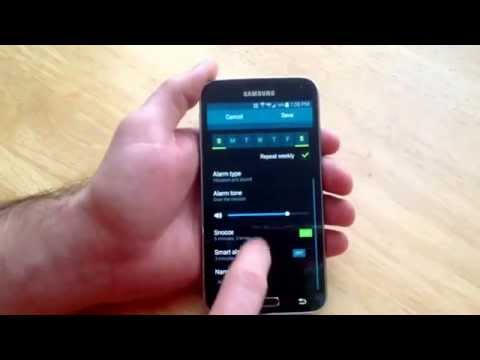 Samsung Galaxy S5 - How to set an alarm