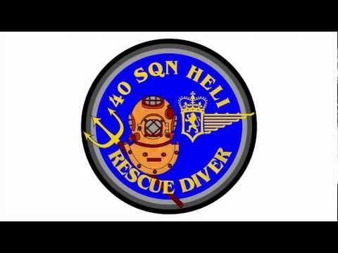 SAR DIVER 40 Squadron Heli : 3D Badge Animation