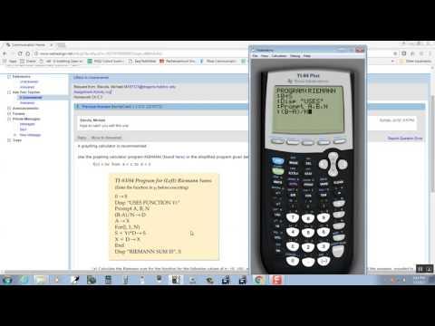 Calc - Riemann Sums Program