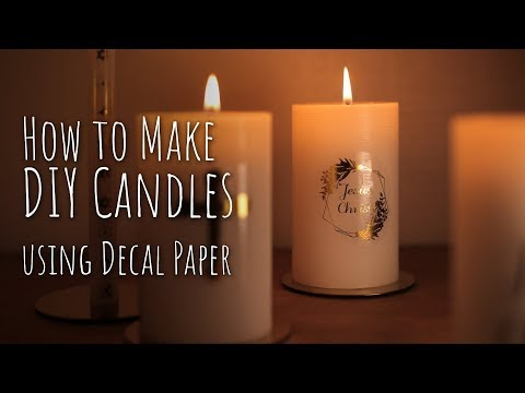 How to make DIY candles using decal paper + FAQ