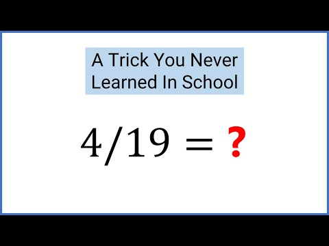Divide By 19 In Your Head - Amazing Mental Math Trick