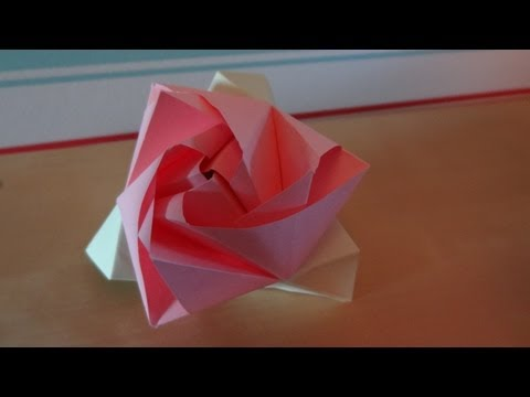 Origami Magic Rose Cube (Design by Valerie Vann)