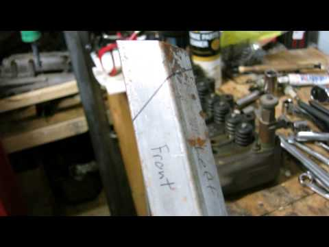 How to make compound cuts on square tubing by hand
