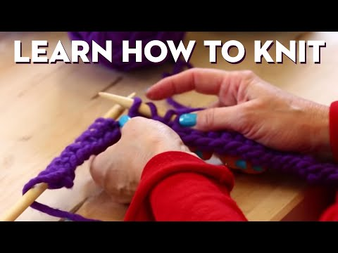 Knitting 101, Beginner's Getting-Started Scarf!