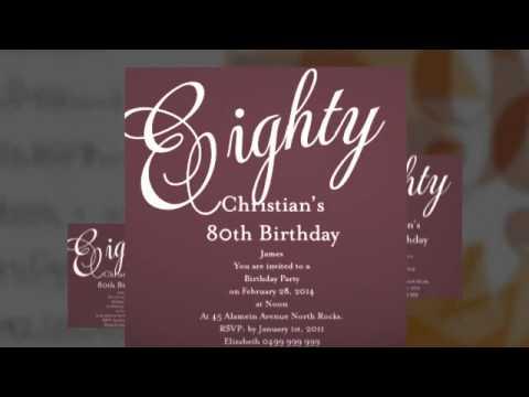 Senior Birthday Invitations by Impressive Invitations