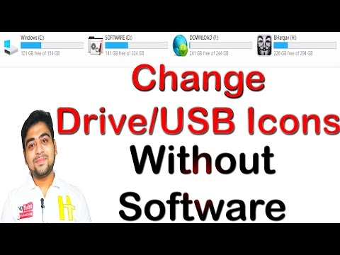 How to || Change || Icon || Logo || of || Disk Drive || Pendrive || Set Your Image || Hindi