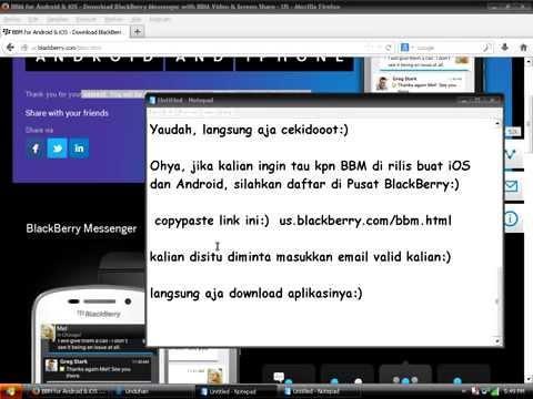 Cara Download BBM Untuk Android Dan iOS (FREE)