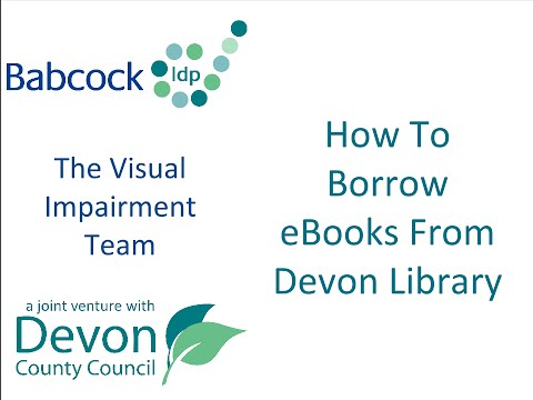How to Borrow eBooks From Devon Library