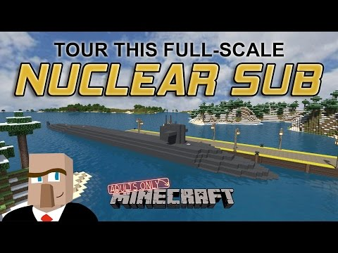 TOUR THIS FULL-SCALE NUCLEAR SUBMARINE: A Minecraft Build Video